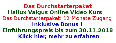 Hallux Valgus Online Video Kurs -. 12 Monate Zugang