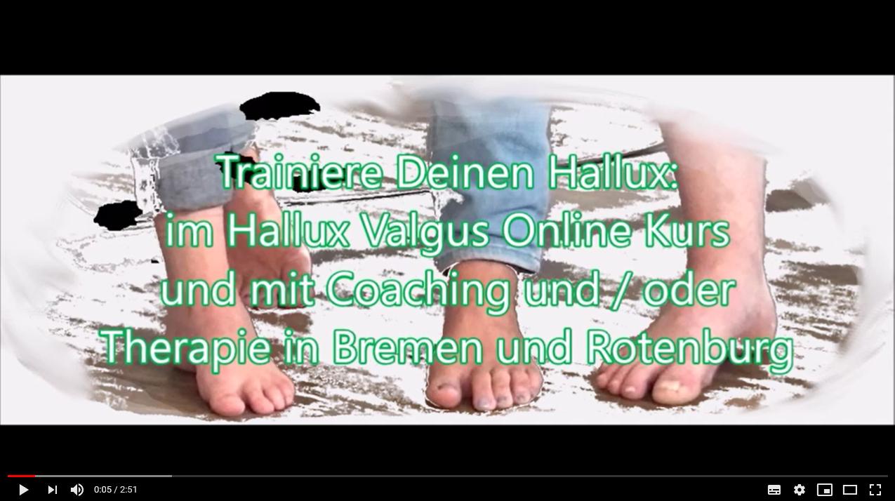 Hallux Valgus Online Video Kurs auf Youtube
